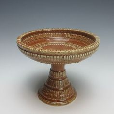 Hand Carved Table Chalice - UU - Tan Shino - Second