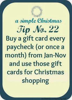 Pinstrosity: Show and Tell Saturday: Saving money for Christmas