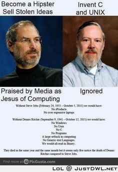 Steve Jobs Vs the inventor of C and Unix