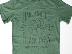 Hand-crafted black eyes upon request by Jon Contino.