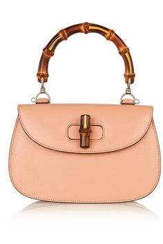 Gucci | Bamboo Classic textured-leather shoulder bag | NET-A-PORTER.COM