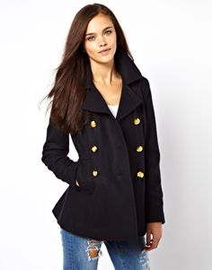 ASOS Textured Swing Duffle Coat | Things I like | Pinterest ...