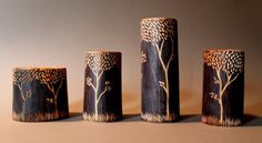 David Fisher, 2014 blue tree shrink boxes