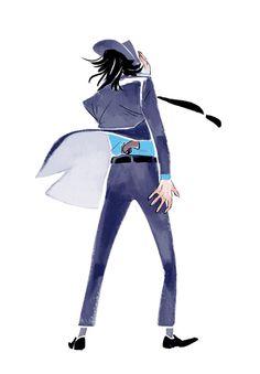 "Fanart of ""Lupin The Third"" to celebrate the new 2012 anime. Jigen Daisuke, by Hwei (via hhhwei.com)"