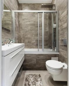 A small bathroom can look impressive, comfortable and cozy