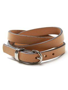 Leather Triple-Wrap Bracelet