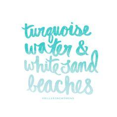 Turquoise water & white sand beaches  #aBikiniKindaLife