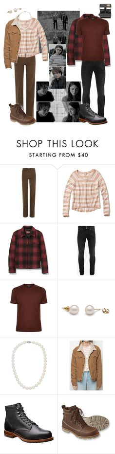 """""""Stranger Things: Nancy and Jonathan"""" by emmers3113 ❤ liked on Polyvore featuring Vanessa Bruno, Hollister Co., L.L.Bean, Alexander McQueen, Giorgio Armani, Blue Nile and Impossible"""