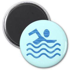 Swim Waves Fridge Magnets