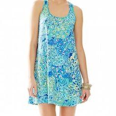 NWOT Lillys lagoon Melle dress Size small Melle dress Lilly Pulitzer Dresses Asymmetrical