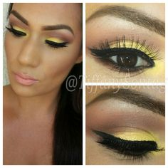 Yellow eyeshadow for summer I like  that color☺