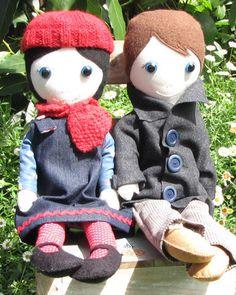 Meet Audrey and handsome Sebastian. Beautifully handmade.