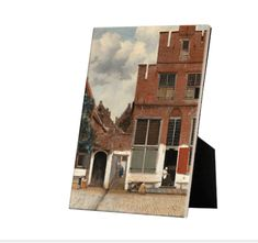 The Little Street on tile with easelback Johannes Vermeer, Old Wall, Art Reproductions, 17th Century, High Gloss, Dutch, Brick, Tiles, Old Things