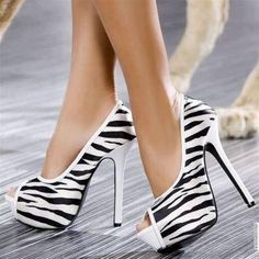 Wonderful pumps, love the zebra stripes! Wear these with a nice solid, and it'll work wonders.