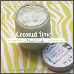 Crafty Allie: 12 Days of Christmas, Day 4: Homemade Coconut Lime Hand Scrub
