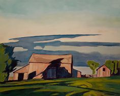 Casson (Group of Seven) - Barn at Bayview Group Of Seven Artists, Group Of Seven Paintings, Tom Thomson Paintings, Field Of Dreams, California Art, Canadian Artists, Summer Art, Landscape Paintings, Landscapes