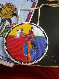 By Harold Garcia. Gorgeous beaded medallion