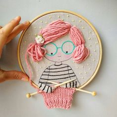 Embroidery hoop Cherry Blossoms, hand embroidered hand made one of a kind pink b. Hoop art Indian Jewellery machine embroidery linen with - Salvabrani how to make french knots embroidery hand embroidery stitches step by step Cherry tree blossom for A Creative Embroidery, Hand Embroidery Stitches, Embroidery Hoop Art, Hand Embroidery Designs, Ribbon Embroidery, Cross Stitch Embroidery, Embroidery Ideas, Hand Stitching, Embroidery Letters