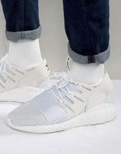 another chance d84c1 8f37d Shop adidas Originals Tubular Doom Sneakers In White at ASOS.