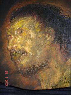 Toz Pastel portre çalışması