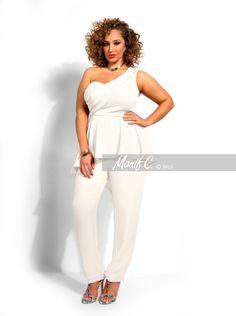 62bd693b853cf Plus Size One Shoulder Jumpsuit - Monif C One Shoulder Jumpsuit