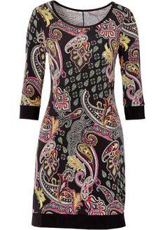 Veja agora:Um must para qualquer guarda-roupa! Este vestido de malha com estampa paisley sensacional e mangas 3/4, garante sempre uma produção com estilo, seja para sair à noite ou no dia a dia, como para ir ao trabalho, por exemplo. Com decote redondo e corte evasê.