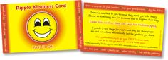 Get our free Ripple Kindness Cards so you can create your own ripples of kindness.