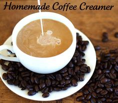 homemade, dairy free, sugar free coffee creamer. perhaps i'll try