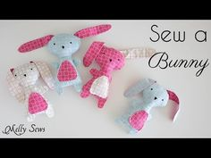 Sew a cute bunny for Easter or another occasion with this free pattern and step by step tutorial. See More ↓↓ Blog post with pattern and links: http://mellys...