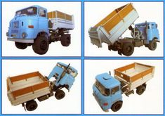 This vehicle paper model is an IFA W50, a multipurpose truck built by the Industry Grouping vehicles (IFA), the papercraft is created by Agromodels and RamiroSS, and the scale is in 1:32. There are blue and red two color versions available.