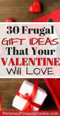 Looking for nice valentine's day gifts for cheap? Use the gift guide to find 30 inexpensive gift ideas that you probably haven't thought of. #valentinesday #valentinegiftideas