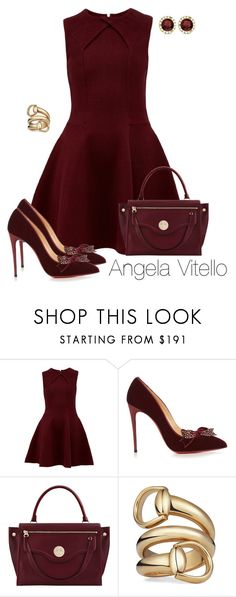 """Untitled #965"" by angela-vitello on Polyvore featuring Ted Baker, Christian Louboutin, Hill & Friends, Gucci and Allurez"