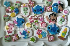 Lilo and Stitch cookies Hawaiian Birthday, Luau Birthday, Boy Birthday Parties, Birthday Ideas, Birthday Party Desserts, Birthday Cookies, Birthday Party Decorations, Lilo Stitch, Lelo And Stich