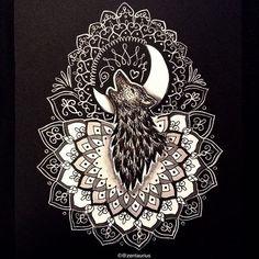 Howling Wolf Mandala by Zentaurius.deviantart.com on @DeviantArt