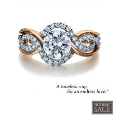 """""""A Timeless ring for and endless love"""" #SageBride #FredericSage"""