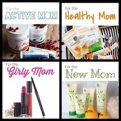 Something for every type of #mom. jillkay.arbonne.com #mothersday #giftsformom #cosmetics #skincare #nutrition #newmom #Arbonne