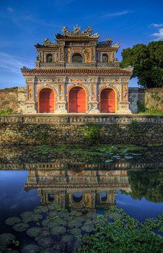 Ville historique de Hue | Porte de la ville, Hué, Thura Thien-Hue, Vietnam. Ville impériale des Nguyen