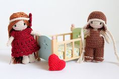 Tiny Crochet Dolls Malka Doll Crochet Boy and by PinkMouseBoutique