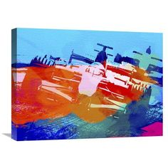 Naxart 'Ferrari F1 Racing' Painting Print on Wrapped Canvas Size: