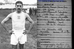 WW1. Jean Bouin, French athlete and silver medalist in the 5,000m at the Olympic Games in Stockholm 1912, died two years later, at 25 years old, on the Meuse battlefield. Hundreds of athletes died on the battlefields during the Great War, including 9 French Olympic medalists.WW1. Jean Bouin, athlète et médaillé d'argent français dans le 5000m aux Jeux olympiques de Stockholm 1912, est mort deux ans plus tard, à l'âge de 25 ans, sur le champ de bataille de la Meuse. Des centaines d'athlètes…
