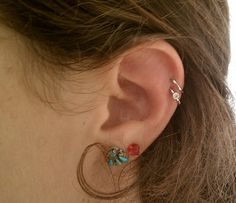 double helix piercing - love those