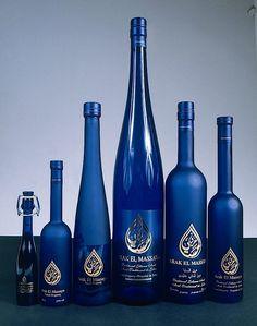 Arak... Lebanese anise flavored liquor in beautiful blue bottle #packaging PD