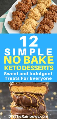 12 Simple No Bake Keto Desserts: Sweet and Indulgent Treats! Keto No Bake Desserts are one of the best guilt free desserts. You will enjoy in your journey to healthy eating. They are delicious and easy to make too. Low Carb Brownie Recipe, Brownie Recipes, Snack Recipes, Dessert Recipes, Brownie Ideas, Dessert Ideas, Keto Friendly Desserts, Low Carb Desserts, Low Carb Recipes