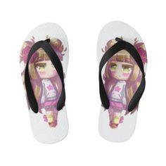 Little Shy Girl Pair of Flip Flops Girls Flip Flops, Shy Girls, Toddler Outfits, Flipping, Girls Shoes, Shoes Sandals, Slippers, Slip On, Pairs