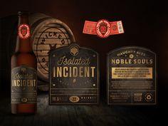 diseño de la botella de la cerveza