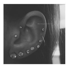 Ear Piercings  ➡️Hair,Nails, And Style