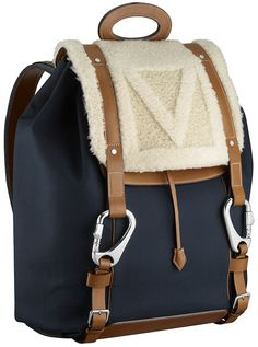 Shearling Backpack Navy Louis Vuitton Fall/Winter 2013 Mens Bag Names and Prices