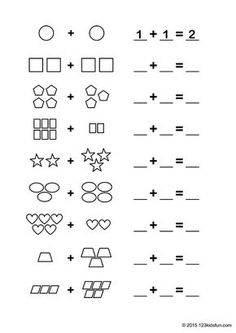 Back To School Worksheets, Math Addition Worksheets, Printable Math Worksheets, Phonics Worksheets, Worksheets For Kids, Printables, Preschool Writing, Kindergarten Math Worksheets, In Kindergarten