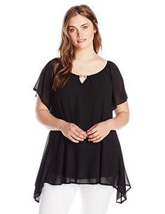 6e90576f1d3 Women s Abstract Art Long Sleeve Tunic Top - 3X