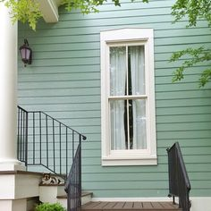 Mint Green House Exterior
